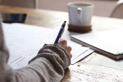 Study_desk_pen_paper_CU_diploma